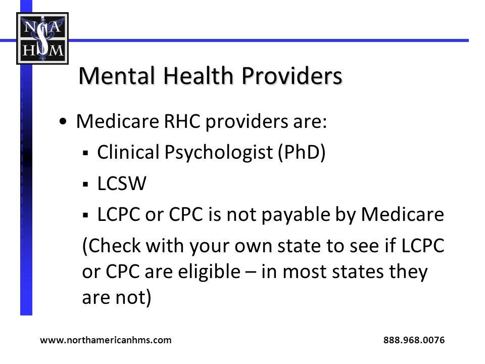 Mental Health Providers