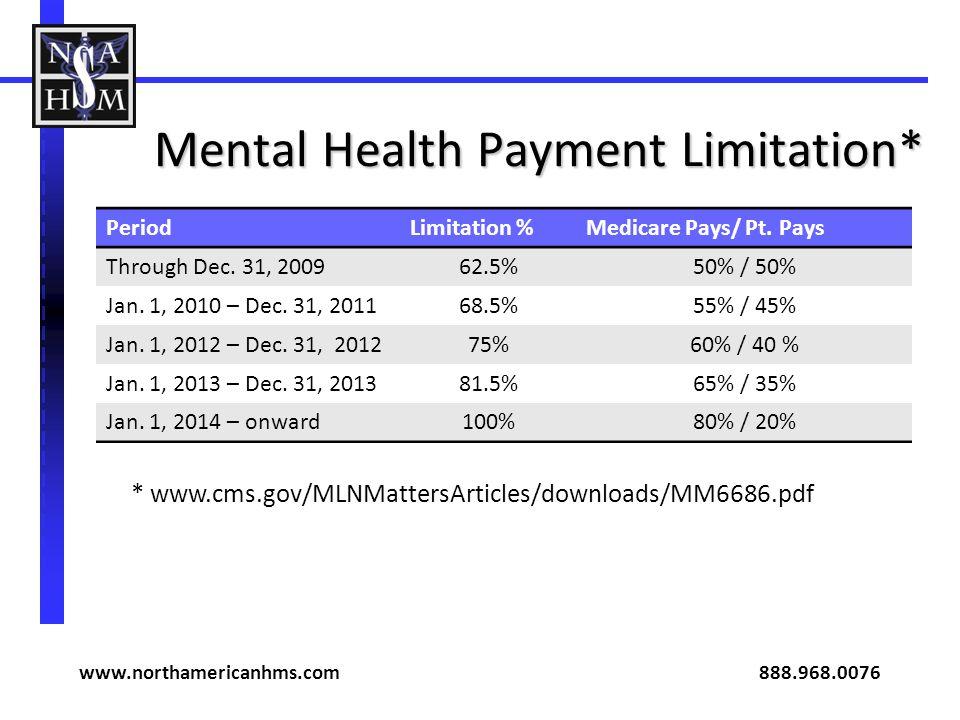 Mental Health Payment Limitation*