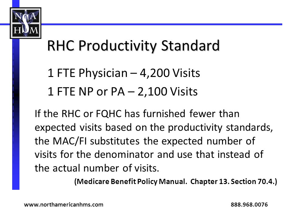RHC Productivity Standard