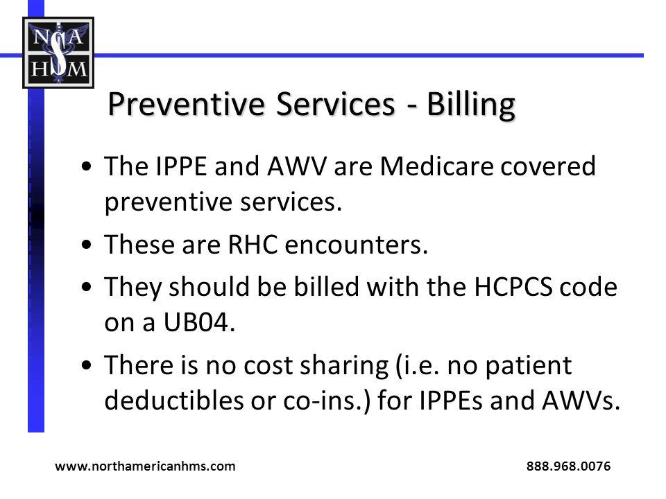 Preventive Services - Billing