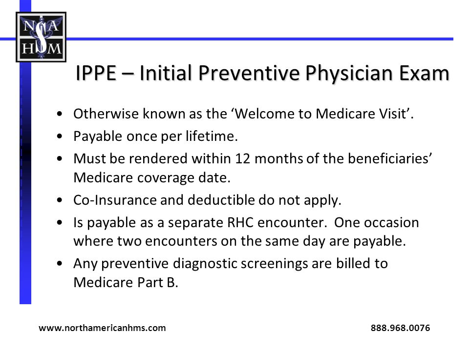 IPPE – Initial Preventive Physician Exam