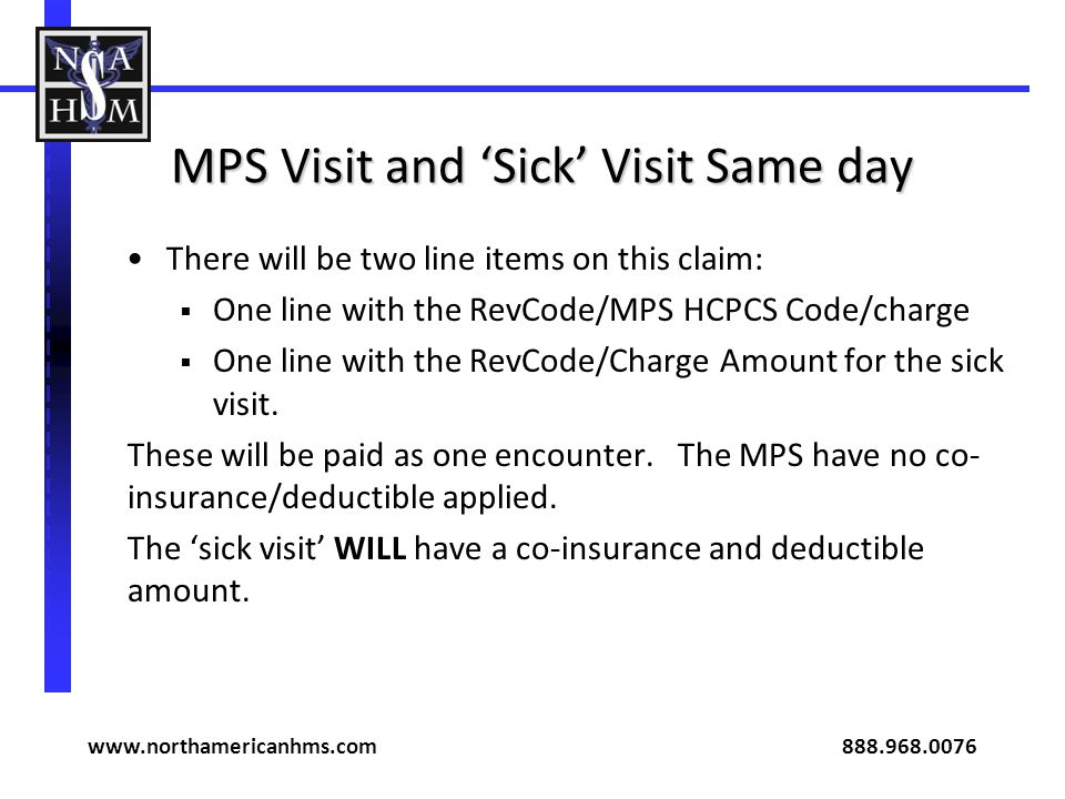 MPS Visit and 'Sick' Visit Same day