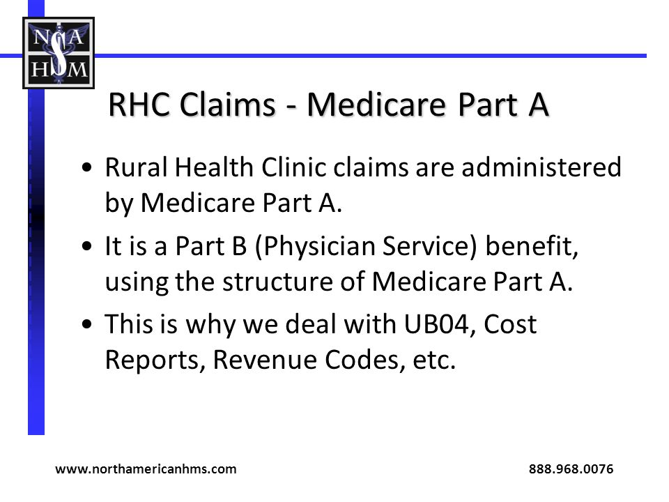 RHC Claims - Medicare Part A