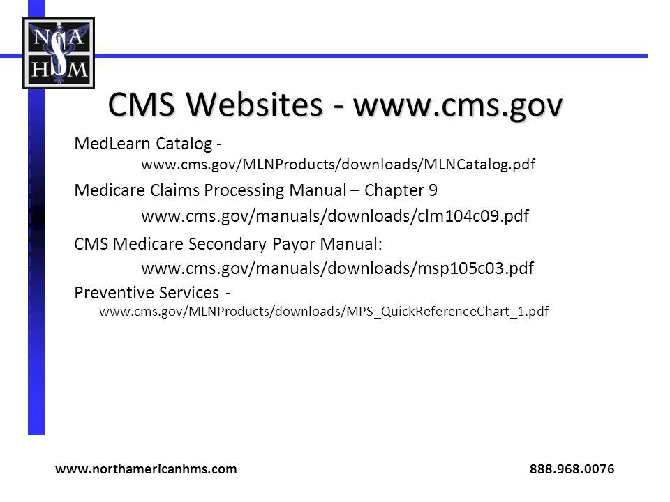 CMS Websites - www.cms.gov