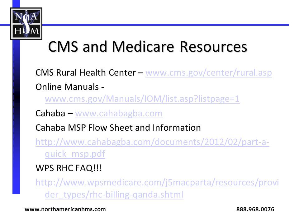 CMS and Medicare Resources