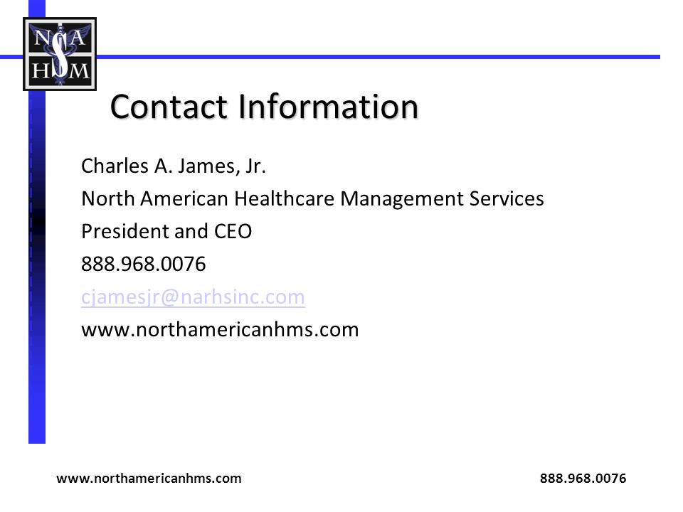 www.northamericanhms.com 888.968.0076