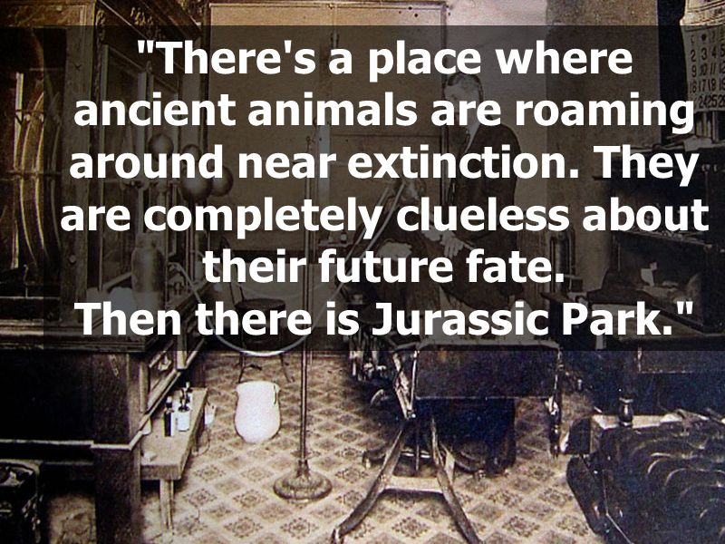 Then there is Jurassic Park.