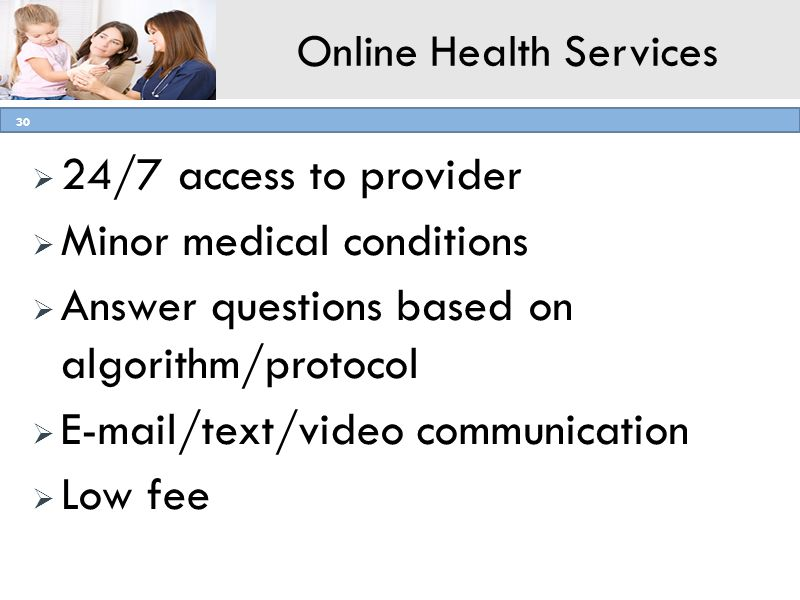 Online Health Services