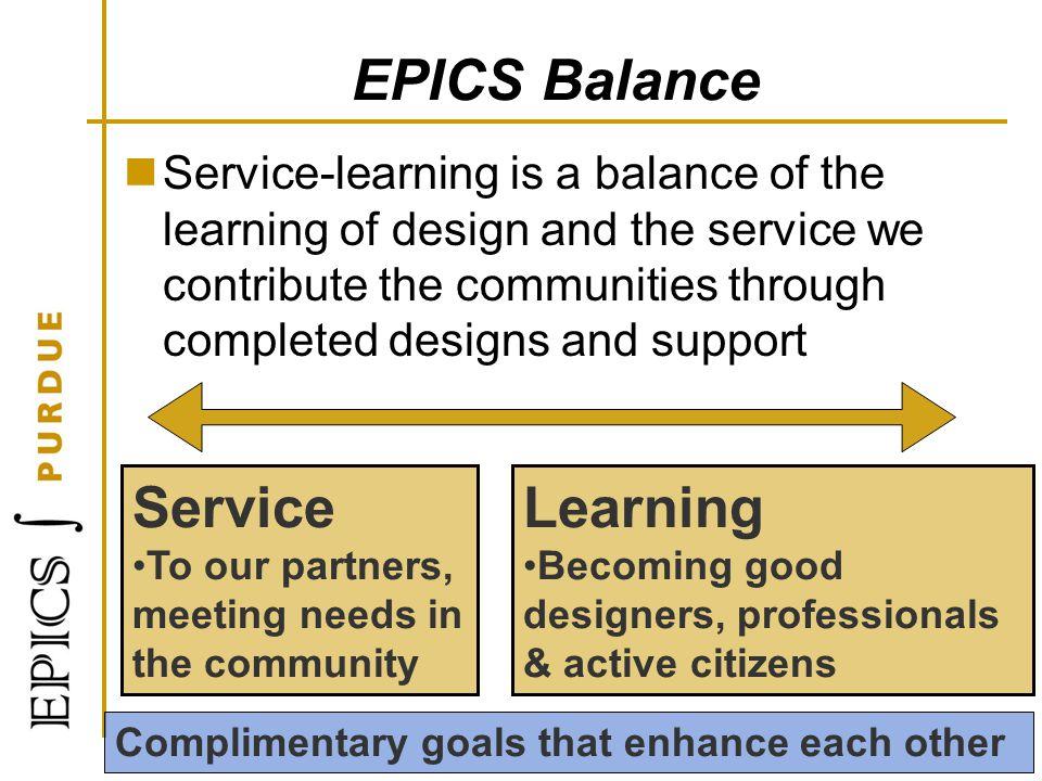 EPICS Balance Service Learning