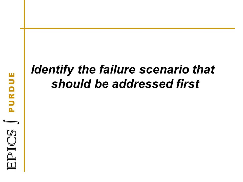 Identify the failure scenario that should be addressed first