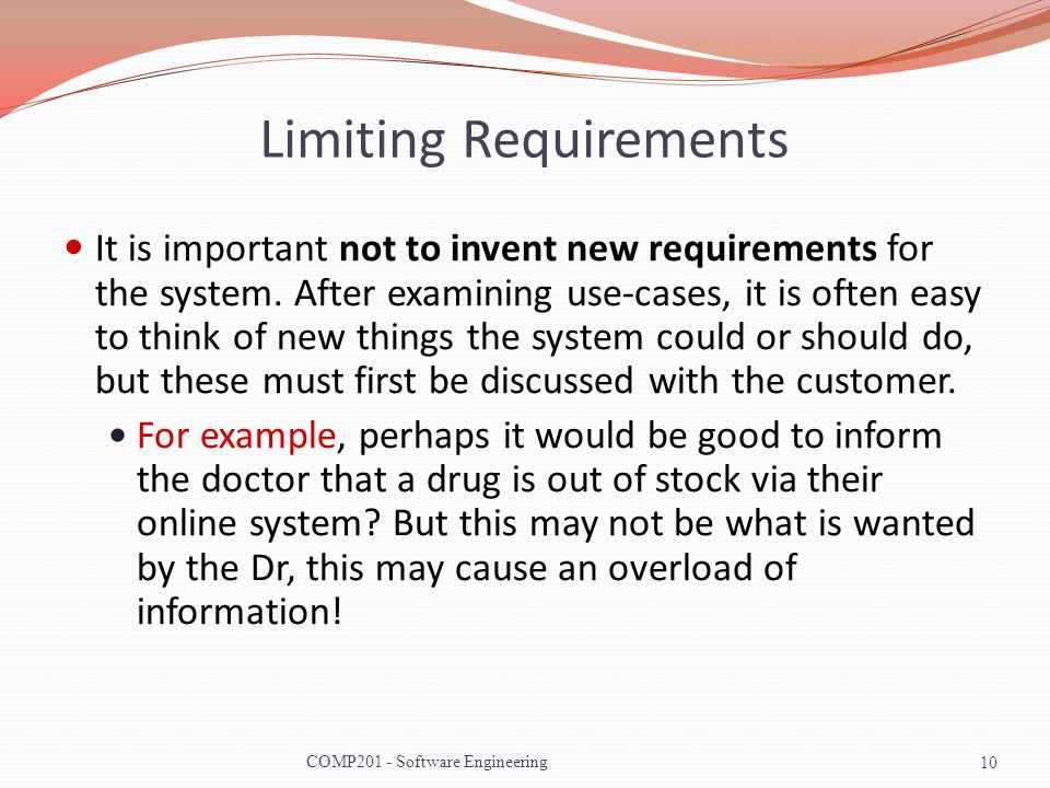 Limiting Requirements