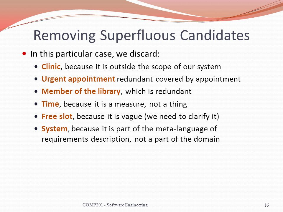 Removing Superfluous Candidates