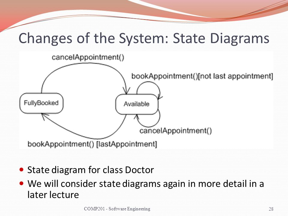 Changes of the System: State Diagrams