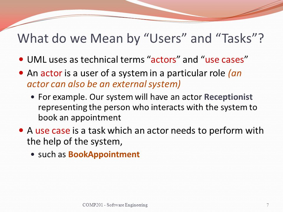 What do we Mean by Users and Tasks