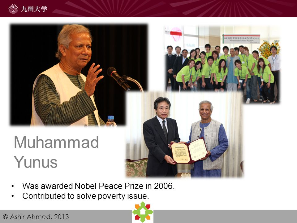 Collaboration with Grameen Since 2007