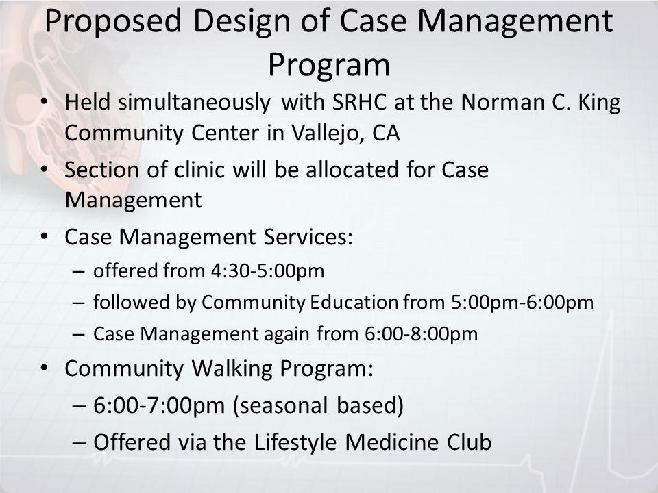 Proposed Design of Case Management Program