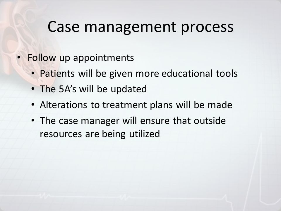 Case management process