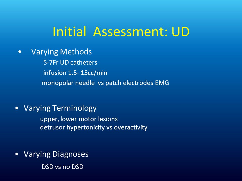 Initial Assessment: UD