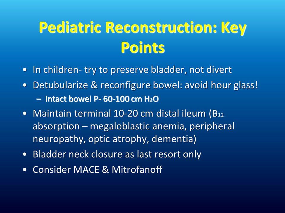 Pediatric Reconstruction: Key Points