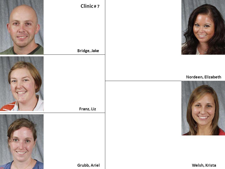 Clinic # 7 Bridge, Jake Nordeen, Elizabeth Franz, Liz Grubb, Ariel