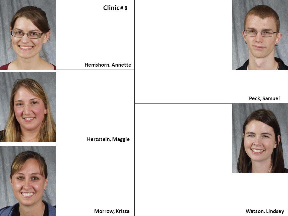 Clinic # 8 Hemshorn, Annette Peck, Samuel Herzstein, Maggie