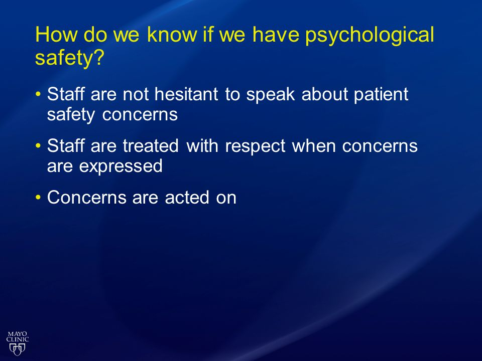 How do we know if we have psychological safety