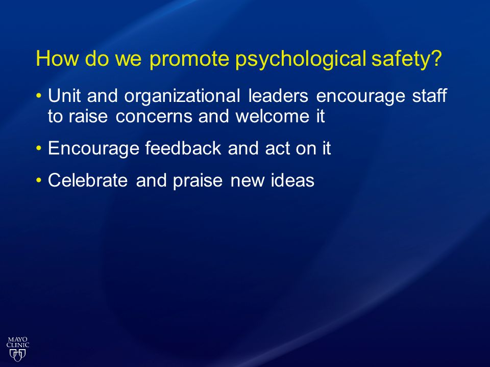 How do we promote psychological safety