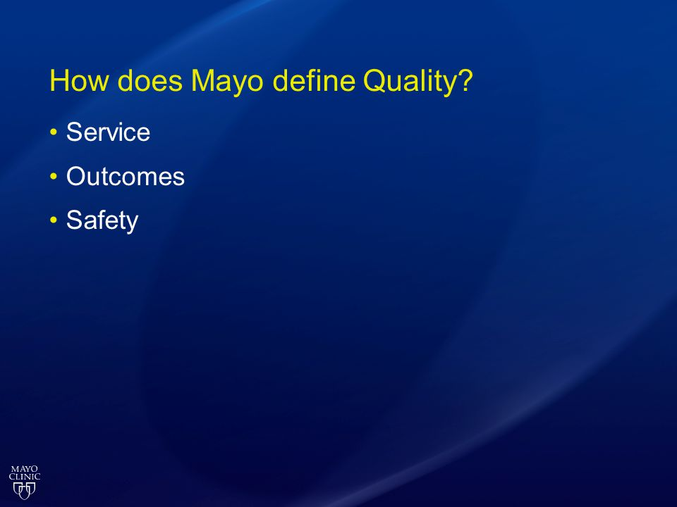 How does Mayo define Quality