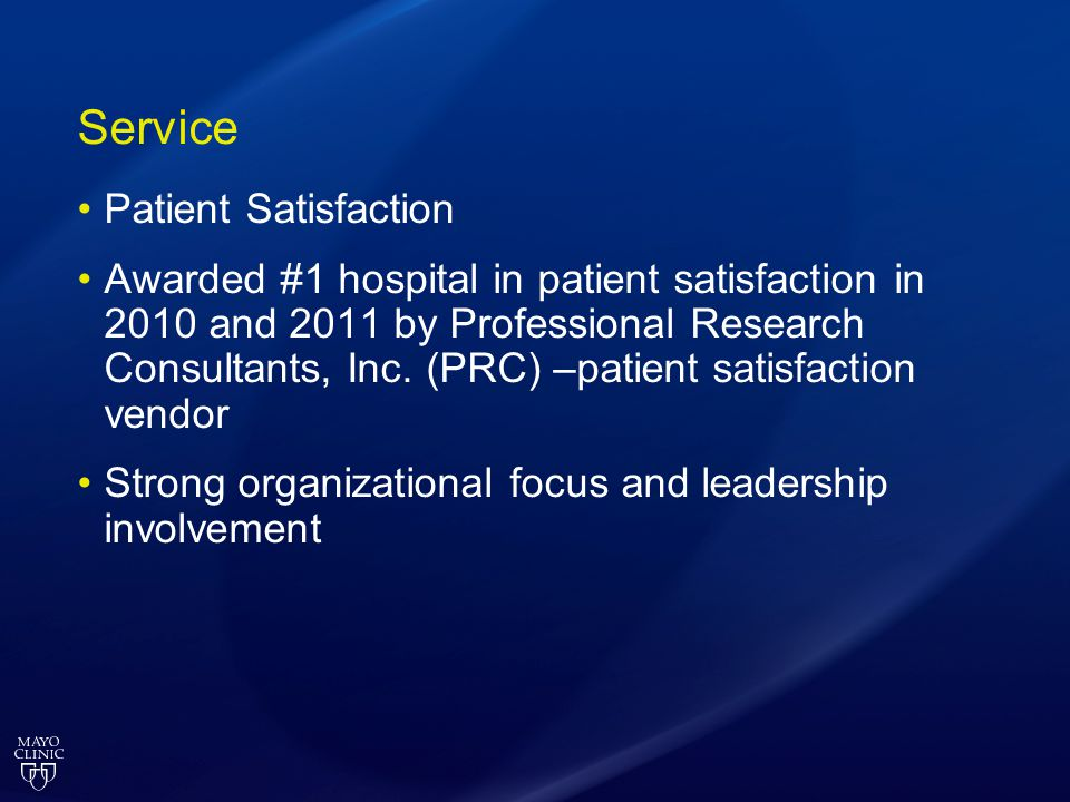 Service Patient Satisfaction