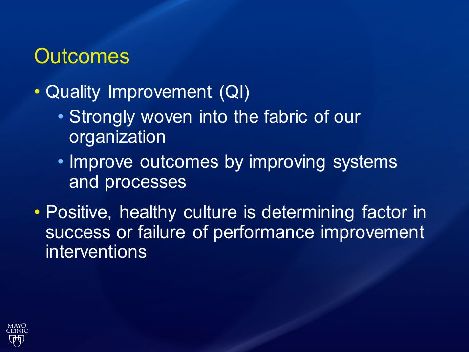 Outcomes Quality Improvement (QI)