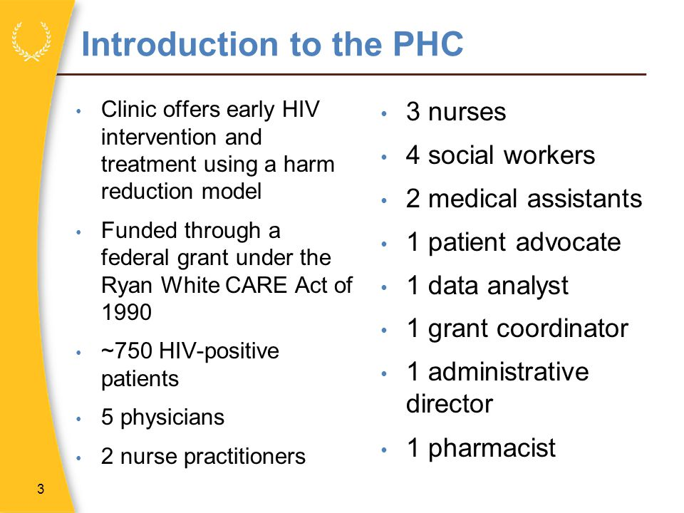 Introduction to the PHC