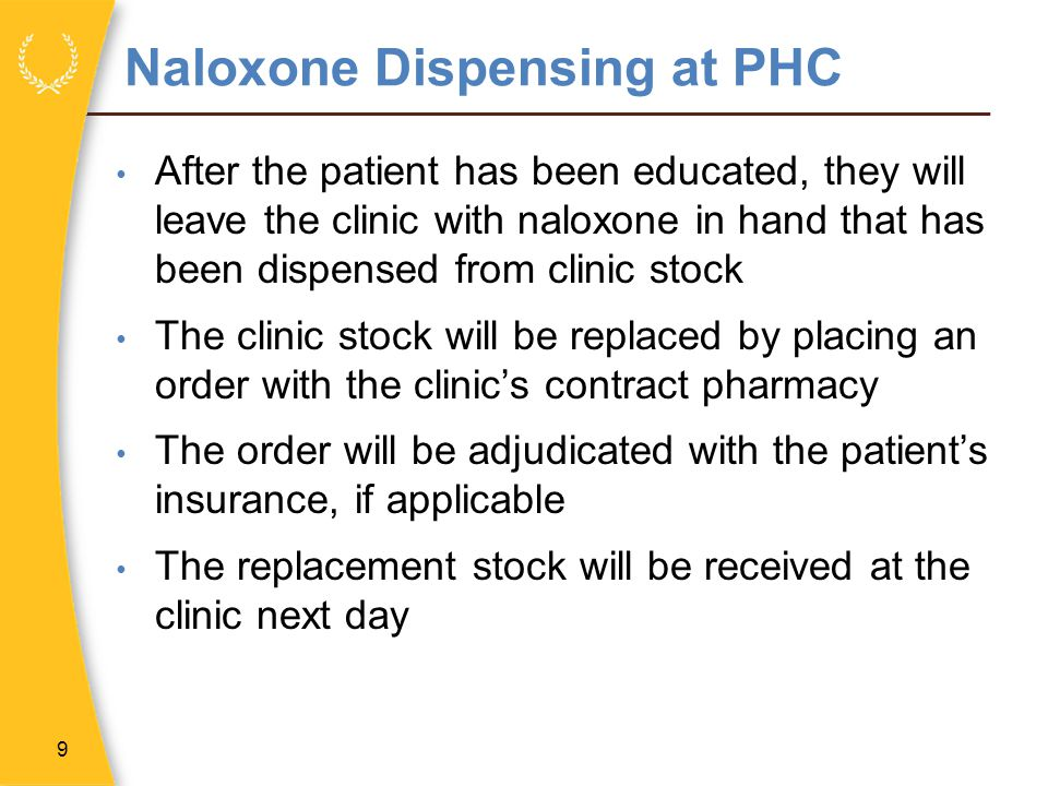 Naloxone Dispensing at PHC