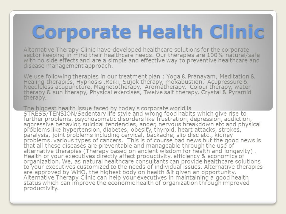 Corporate Health Clinic