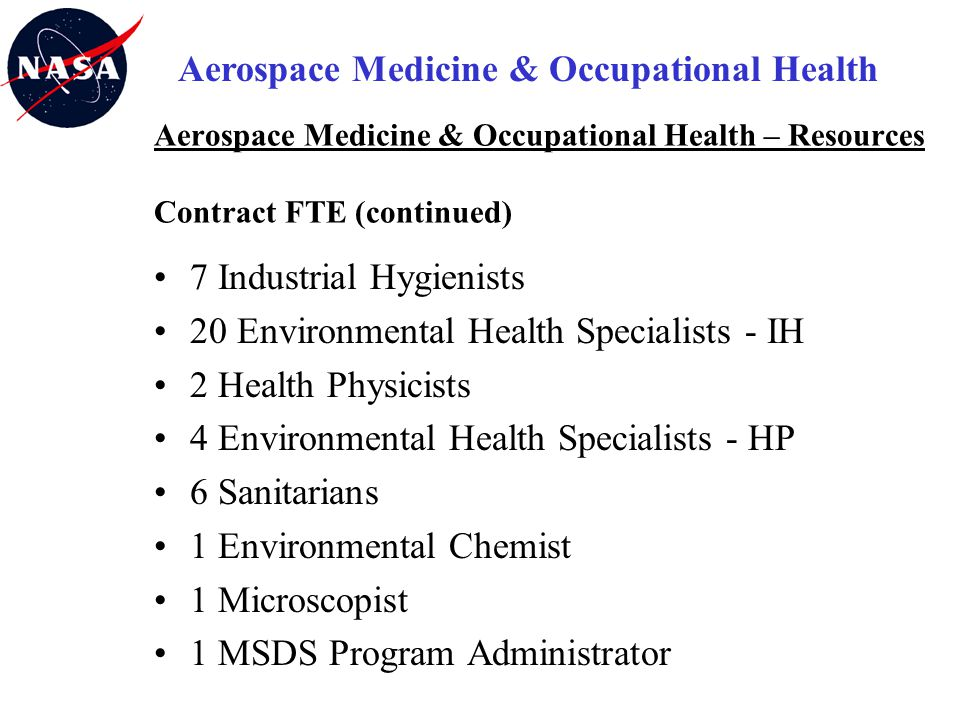 Aerospace Medicine & Occupational Health
