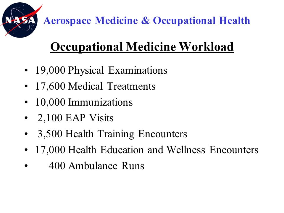 Occupational Medicine Workload