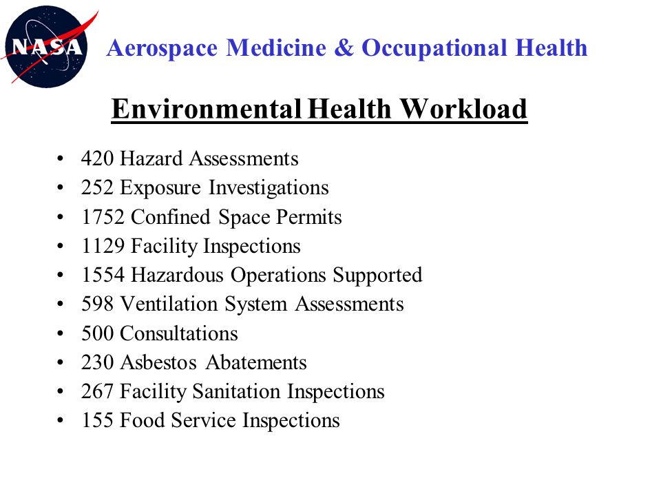 Environmental Health Workload