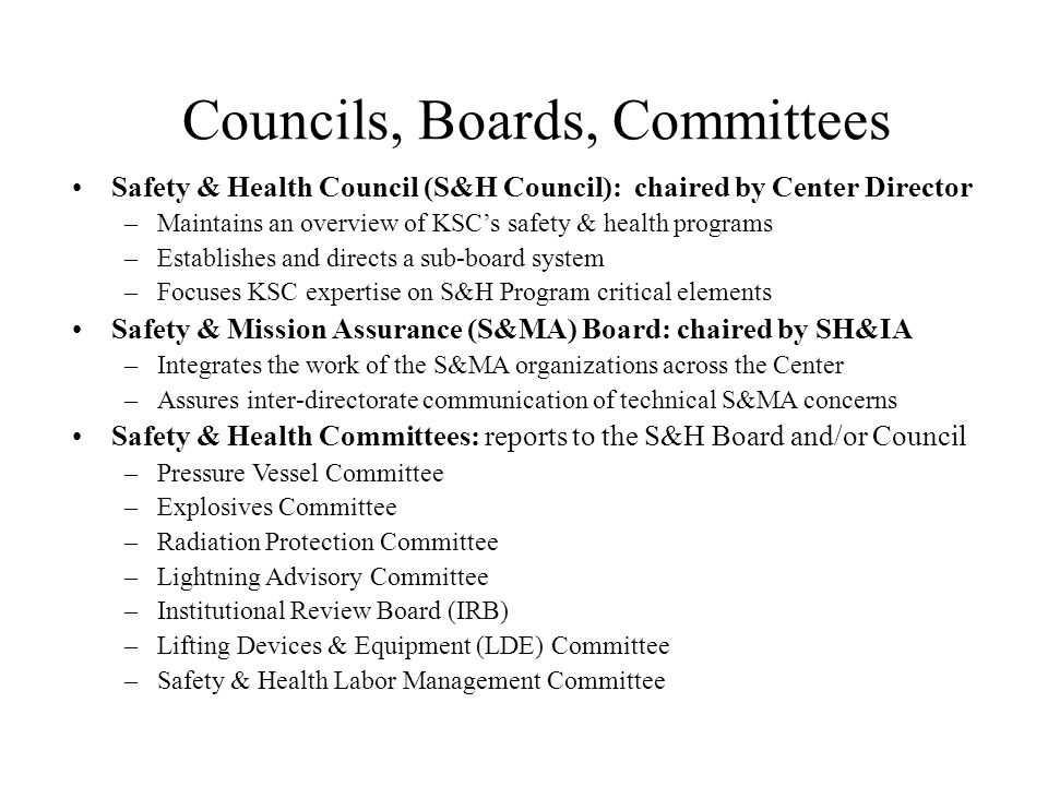 Councils, Boards, Committees