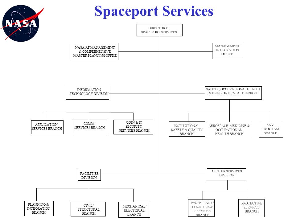 Spaceport Services DIRECTOR OF SPACEPORT SERVICES NASA/AF MANAGEMENT