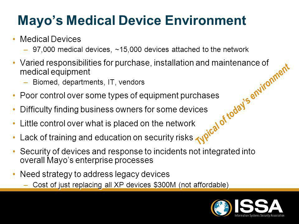 Mayo's Medical Device Environment