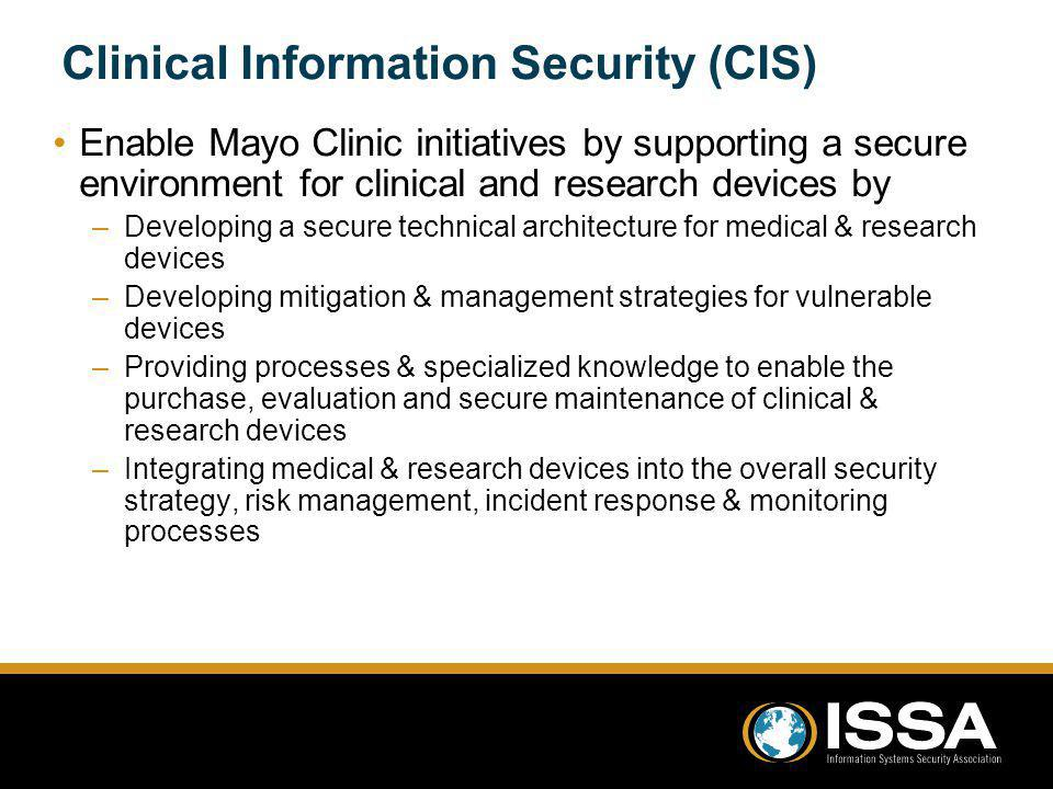 Clinical Information Security (CIS)