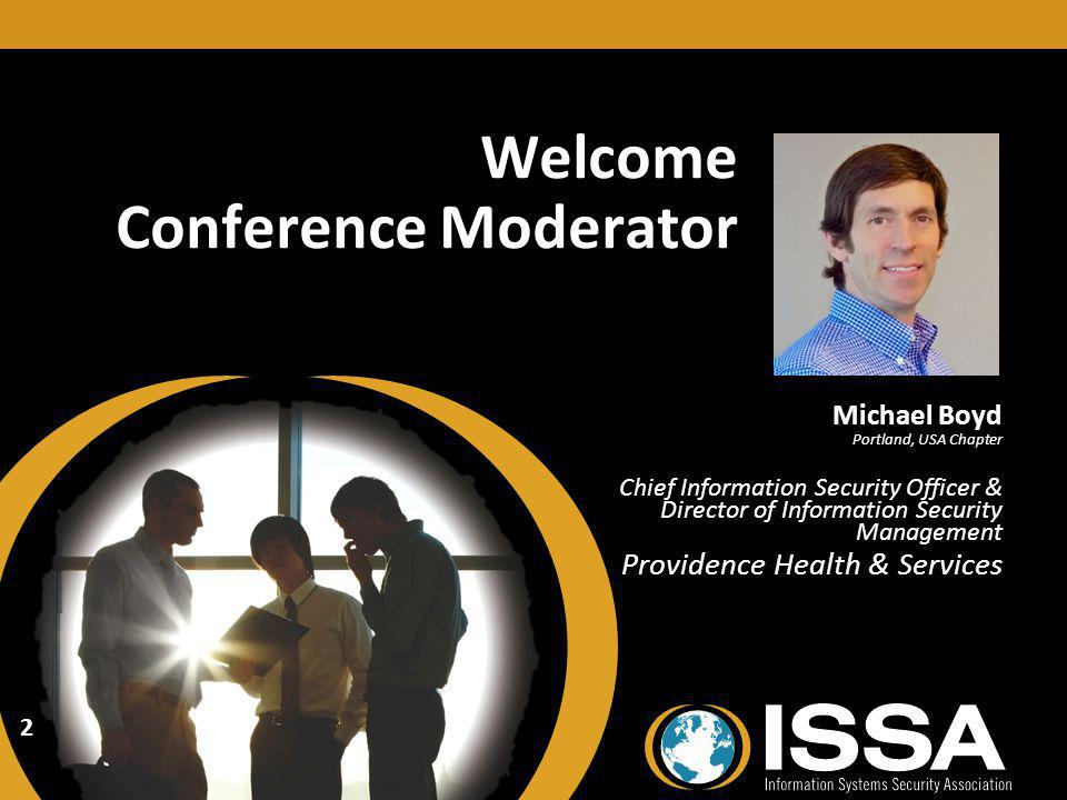 Welcome Conference Moderator