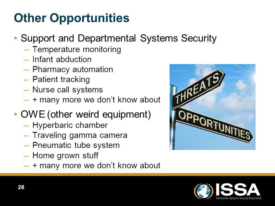 Other Opportunities Support and Departmental Systems Security