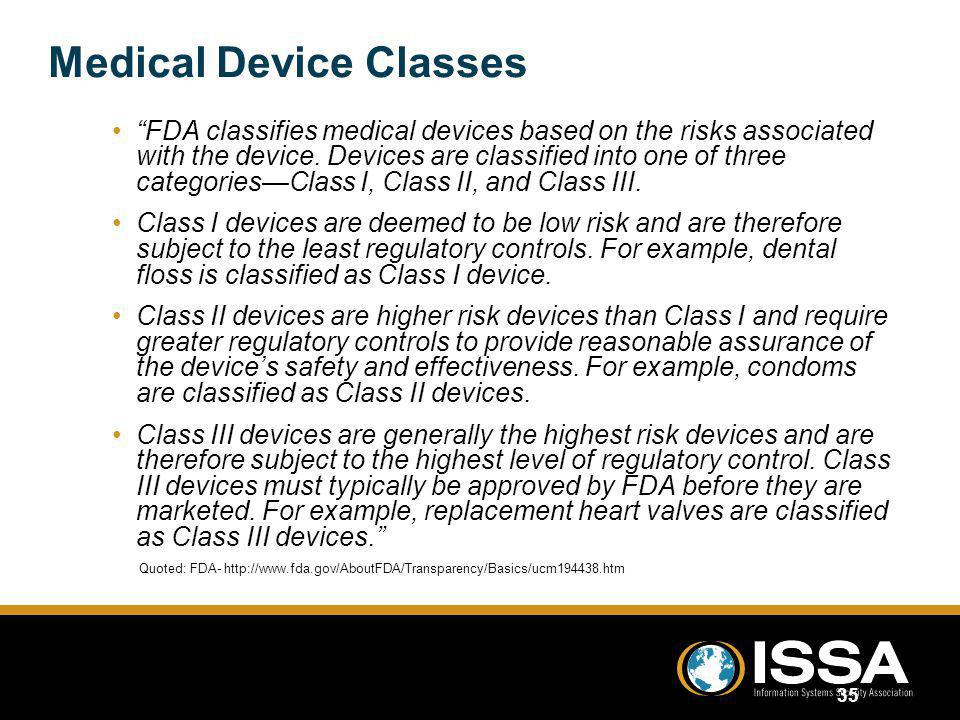 Medical Device Classes
