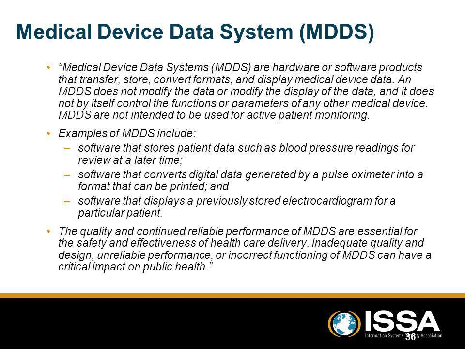 Medical Device Data System (MDDS)