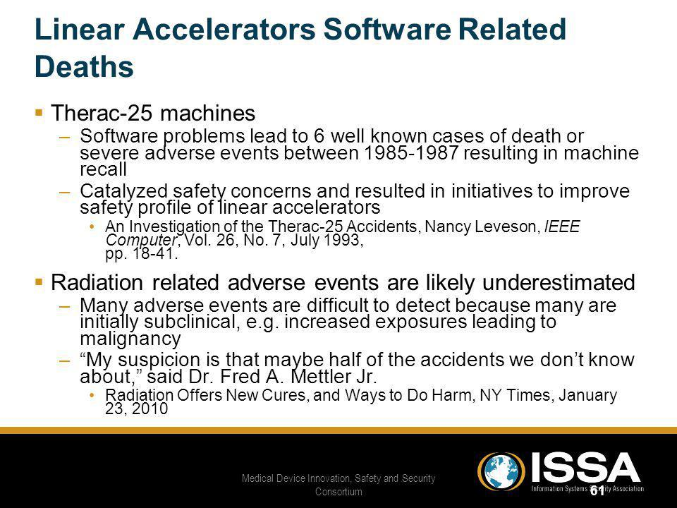 Linear Accelerators Software Related Deaths