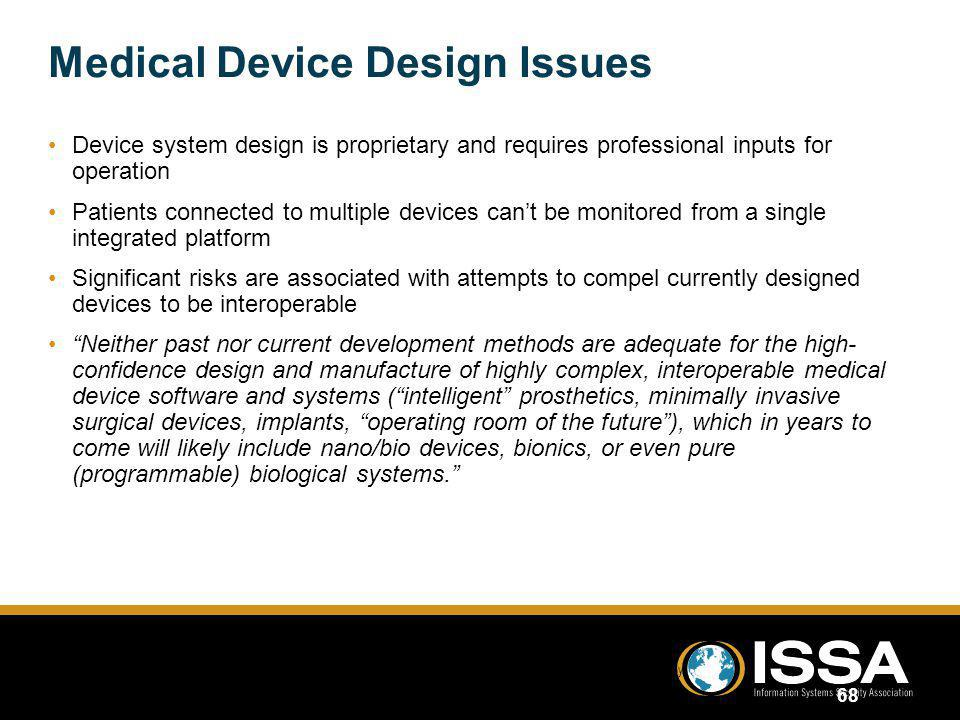 Medical Device Design Issues