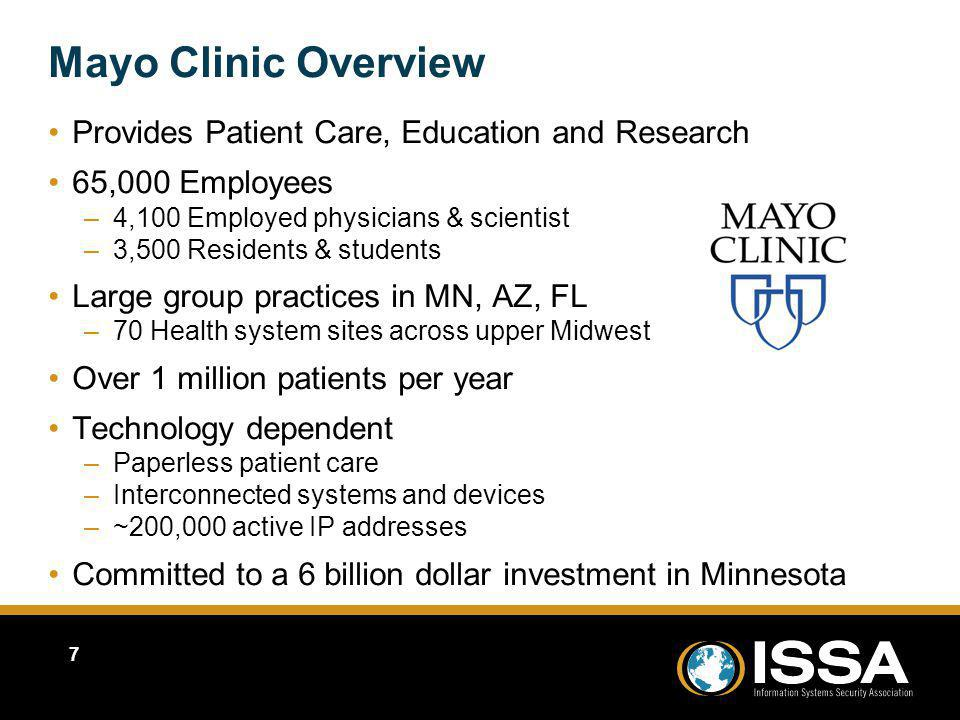 Mayo Clinic Overview Provides Patient Care, Education and Research