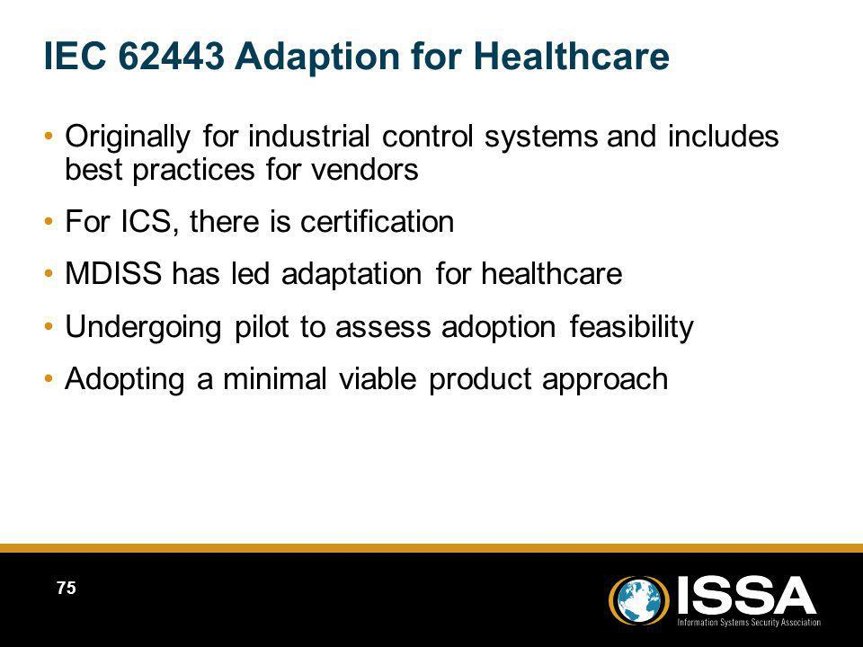 IEC 62443 Adaption for Healthcare