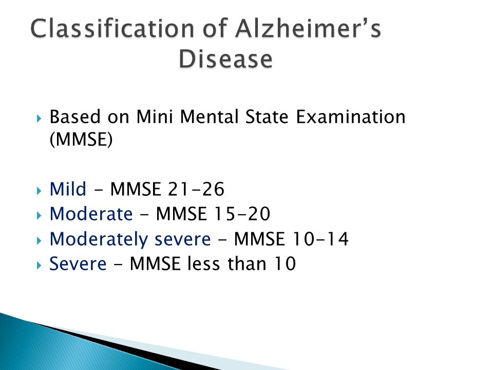 Classification of Alzheimer's Disease