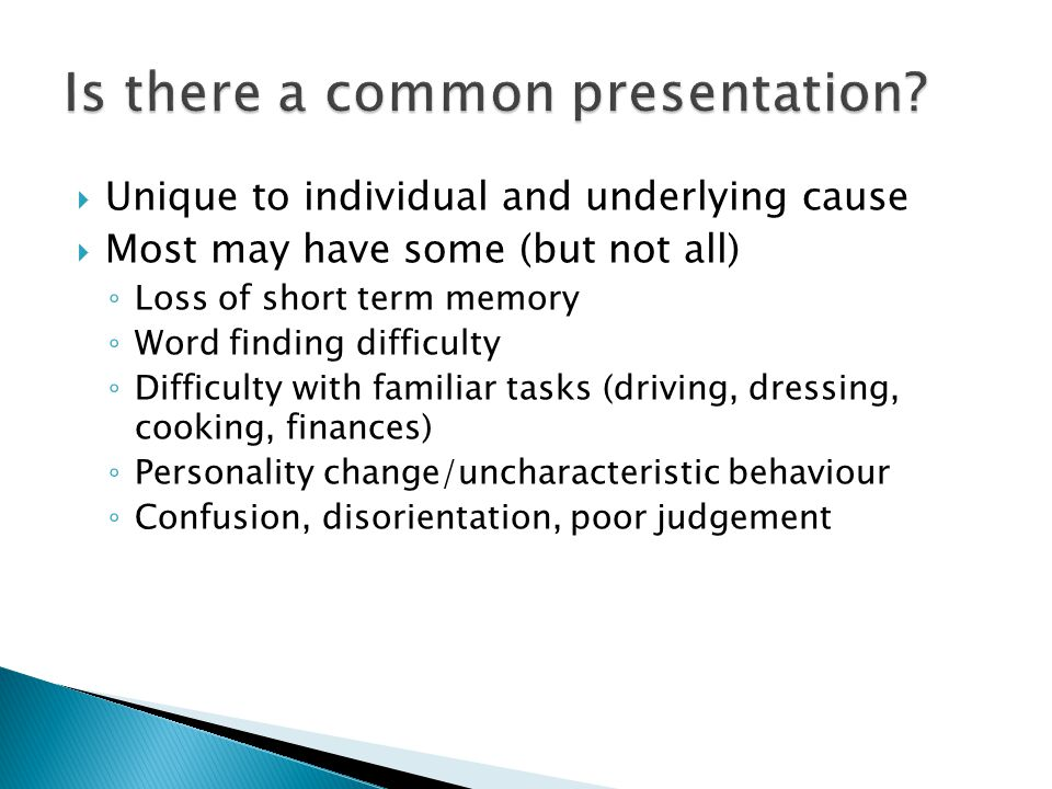Is there a common presentation